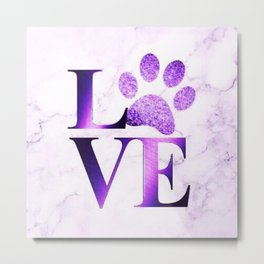 Love is a Four Letter Word - Purple Marble Metal Print
