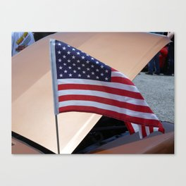 Flying Flag Canvas Print