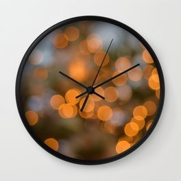 Golden Lights on a Christmas Tree (Color) Wall Clock
