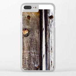 Timber Cabin Wall. Downieville. USA Clear iPhone Case