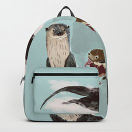 New World otters Backpack