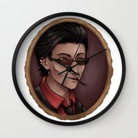 crowley Wall Clocks featuring Crowley (white) by Abbi Laura