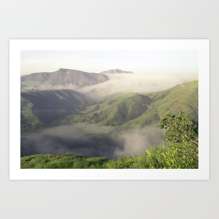 Foggy Mountain View Art Print
