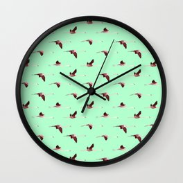 Flying Flamingos 2 Wall Clock