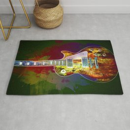 Sounds of music. Guitar. Rug