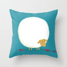 Fluffy Sheep Throw Pillow