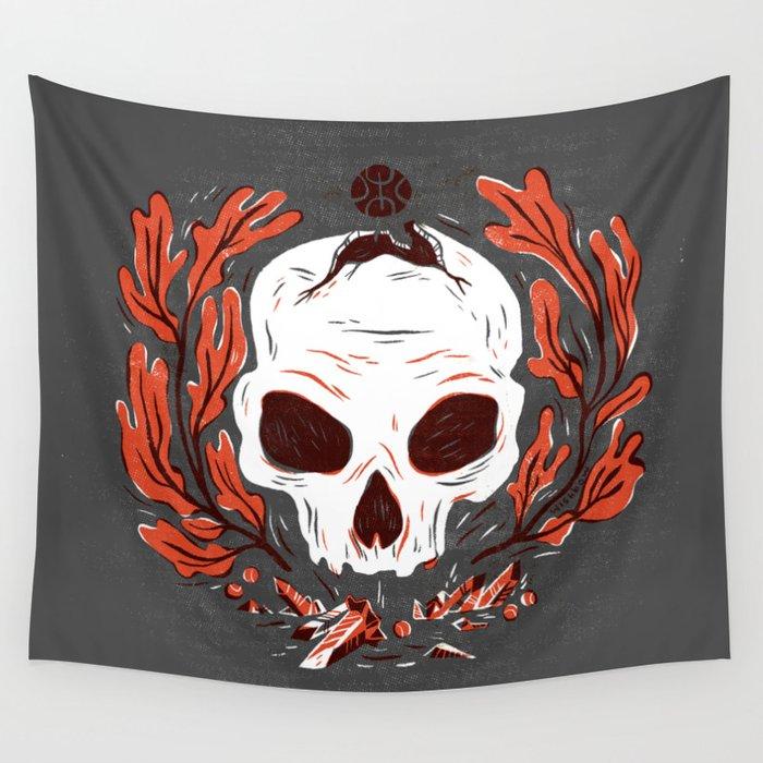 Symbol Skull Wall Tapestry