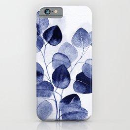Indigo blue eucalyptus iPhone Case