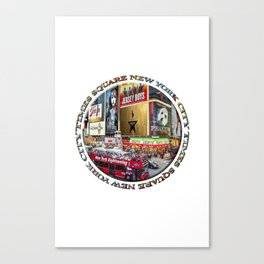 Times Square New York City (badge emblem on white) Canvas Print
