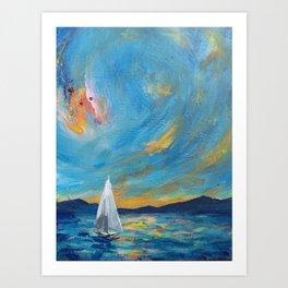 When the Ocean Burned Art Print