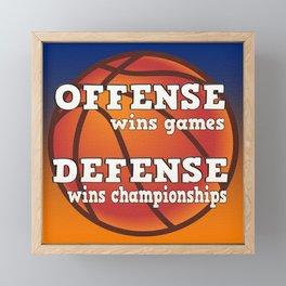 Winning philosophy for team sports Framed Mini Art Print