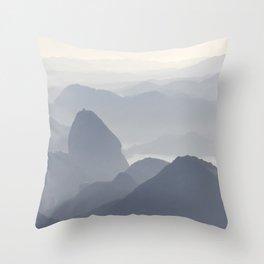 Rio de Janeiro Mountains Throw Pillow