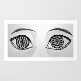 Oreo Eyes Art Print