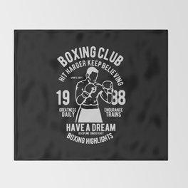 boxing club Throw Blanket