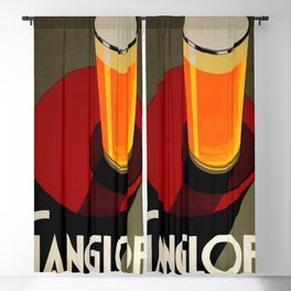 Vintage Red Gangloff Beer Tall Glass Light Ale Lager Pilsen Poster Advertising Blackout Curtain