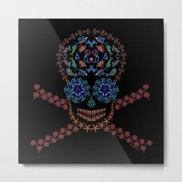 Marine Creatures Skull Metal Print