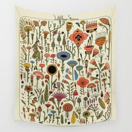 Wildflower Chart Wall Tapestry