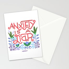anxiety is A Liar (melon) Stationery Cards