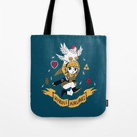 hyrule Tote Bags featuring hyrule airlines by Louis Roskosch