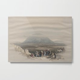 Vintage Print - The Holy Land, Vol 1 (1842) - Mount Tabor from the Plain of Esdraelon Metal Print