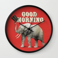 good morning Wall Clocks featuring Good Morning by Eric Fan