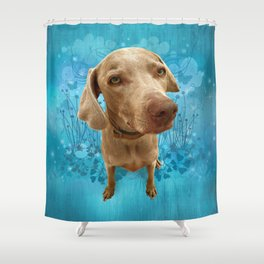 PARKER POSEY (sky) puffy cloud series Shower Curtain