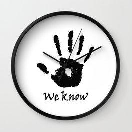 We Know - Dark Brotherhood Wall Clock