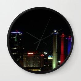 KC Night Colors Wall Clock