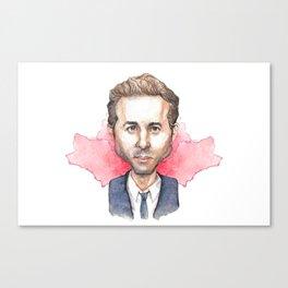 Ryan Reynolds Caricature Canvas Print