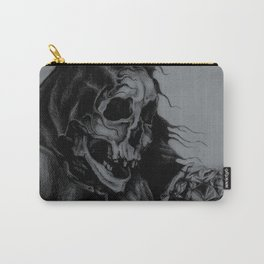 Skeleton Holding Diamond Carry-All Pouch