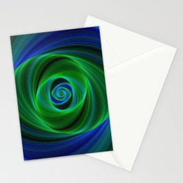 Green blue infinity Stationery Cards