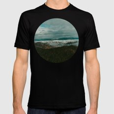 Autumn Wilderness MEDIUM Black Mens Fitted Tee