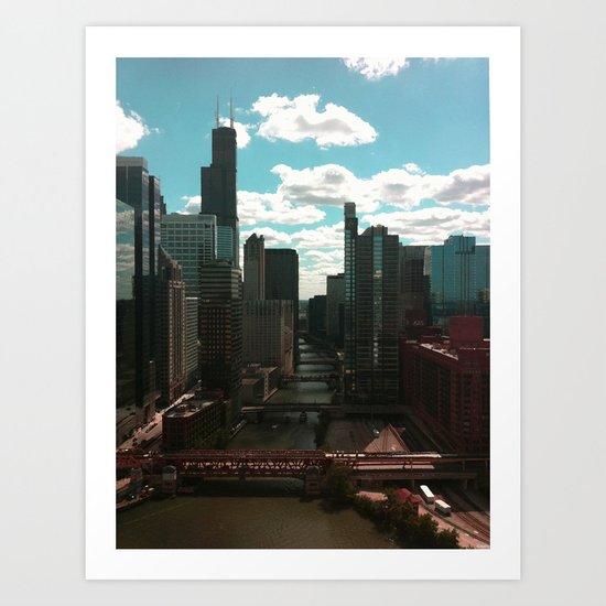 Chicago River View Art Print