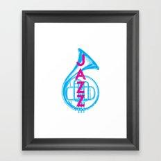 Jazz Love Framed Art Print