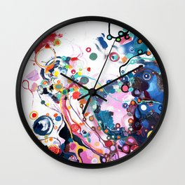 Flover of corruption Wall Clock