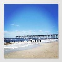 north carolina Canvas Prints featuring Carolina Beach North Carolina by Sunset Crazy