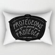 Nous Protégeons Rectangular Pillow