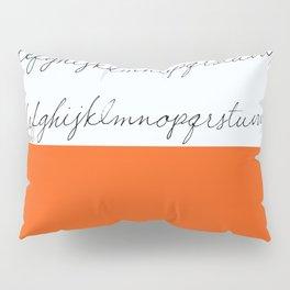Alphabet-Orange Pillow Sham