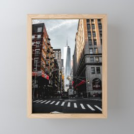 Lower Manhattan One WTC Framed Mini Art Print