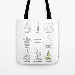 Architecture History of the Christmas Tree Tote Bag