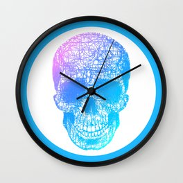 Scribble Skull Wall Clock