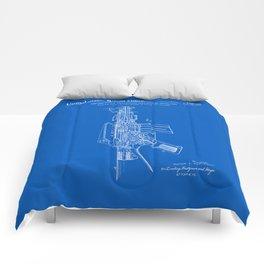 AR-15 Semi-Automatic Rifle Patent -Blueprint Comforters