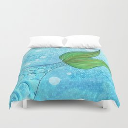 Mysterious Mermaid Duvet Cover