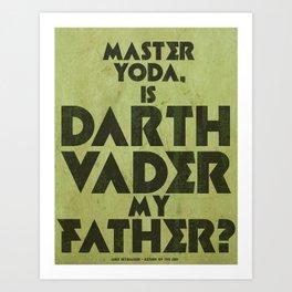 Luke Skywalker Print - RIGHT Art Print