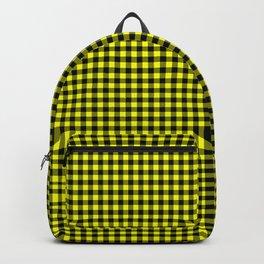 Mini Black and Bright Yellow Cowboy Buffalo Check Backpack