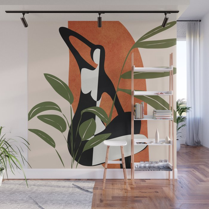 Abstract Female Figure 20 Wall Mural