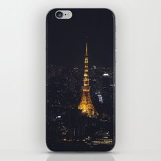 Tokyo Tower at Night iPhone & iPod Skin