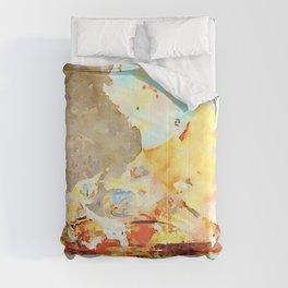 Peeled wall Comforters