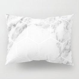 White marble hexagonal beehive Pillow Sham