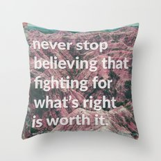 preach Throw Pillow
